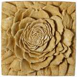 "Rose Medallion 13 1/2"" Square Outdoor Wall Plaque"