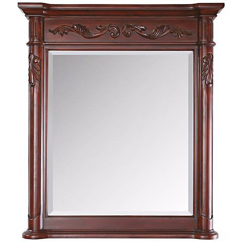 "Avanity Provence 40"" High Antique Cherry Wall Mirror"
