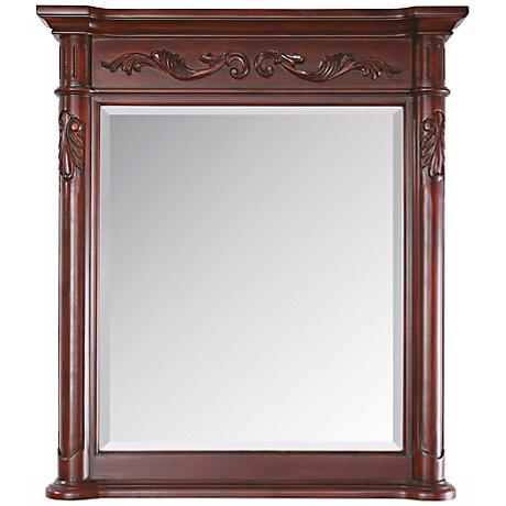 """Avanity Provence 40"""" High Antique Cherry Wall Mirror"""
