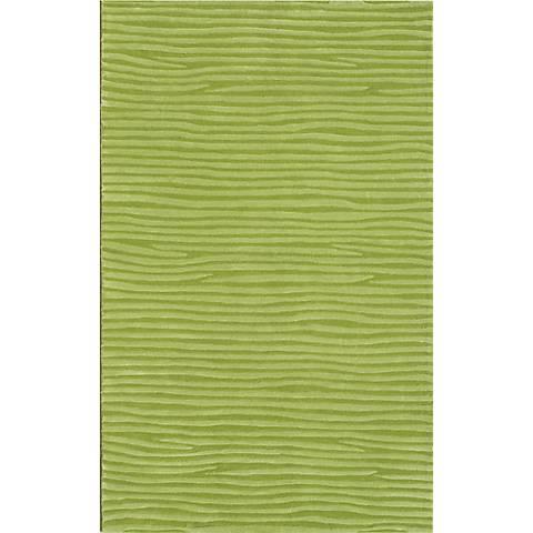 Ecconox 72331 Wavy Green Area Rug