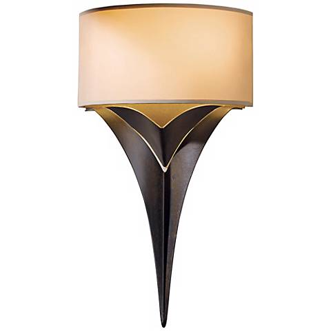 "Hubbardton Forge Calla 18"" High Bronze Wall Sconce"