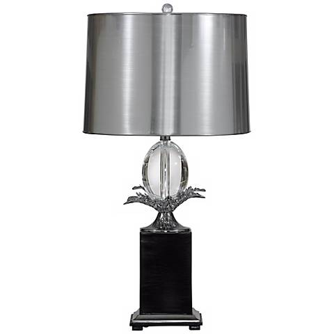 Heston Silver and Black Table Lamp