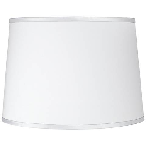 Sydnee Satin Silver White Drum Lamp Shade 14x16x11 (Spider)