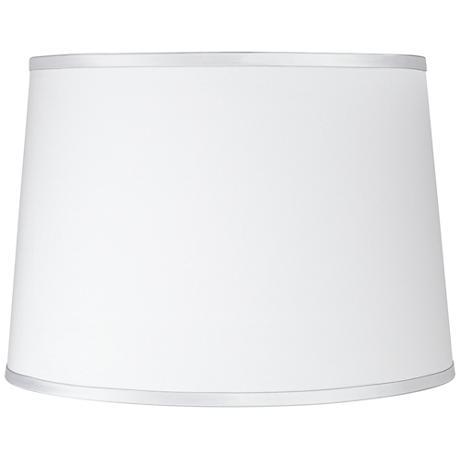 Sydnee Satin Silver White Drum Lamp Shade 14x16x11 (Spider)