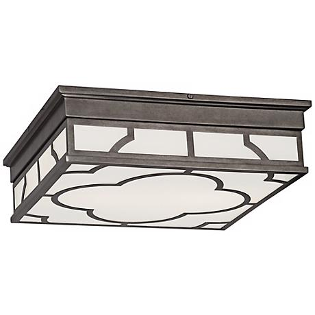 "Robert Abbey Addison 15 3/4"" Wide Nickel Ceiling Light."