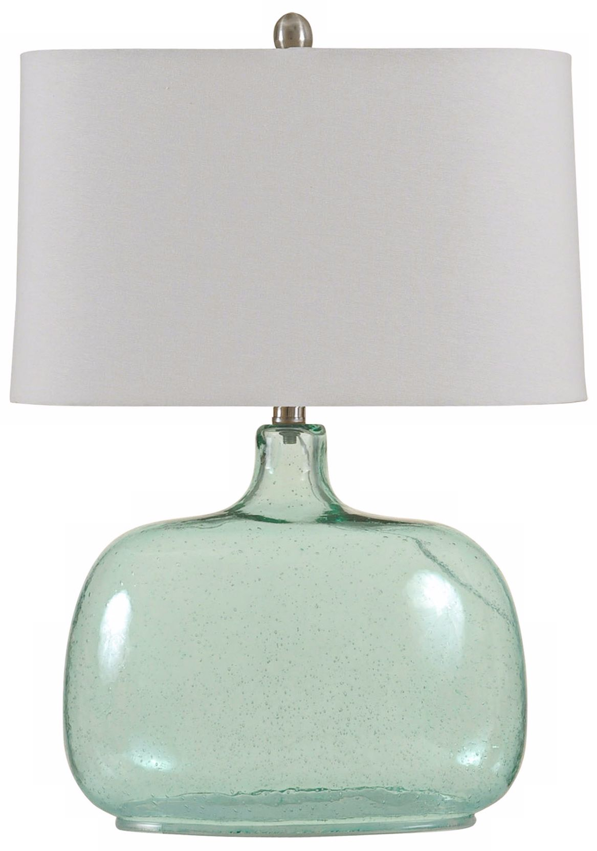 brentford seeded teal glass table lamp