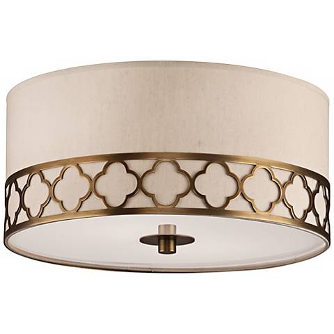 "Robert Abbey Addison 17 1/2"" Wide Brass Round Ceiling Light"
