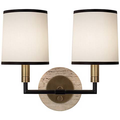 Robert Abbey Axis Aged Brass Double Wall Sconce - #Y9135 Lamps Plus