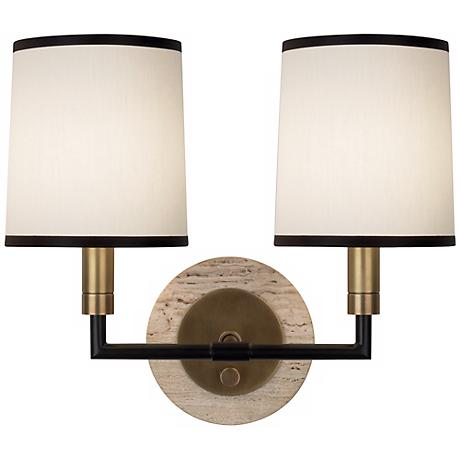 Robert Abbey Axis Aged Brass Double Wall Sconce