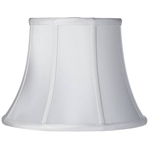 White Silk Dupioni Modified Bell Shade 10x16x12 (Spider)