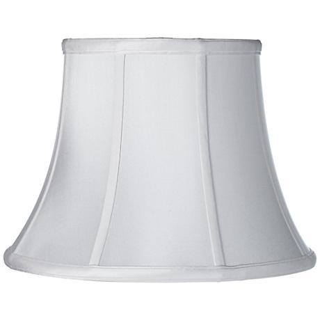 White Silk Dupioni Modified Bell Shade 10x16x12 (Spider)