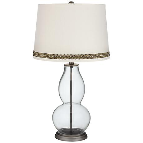 Fillable Glass Table Lamp Base Clear Fillable Double Gourd Table Lamp with Wave Braid Trim - #Y9257 ...