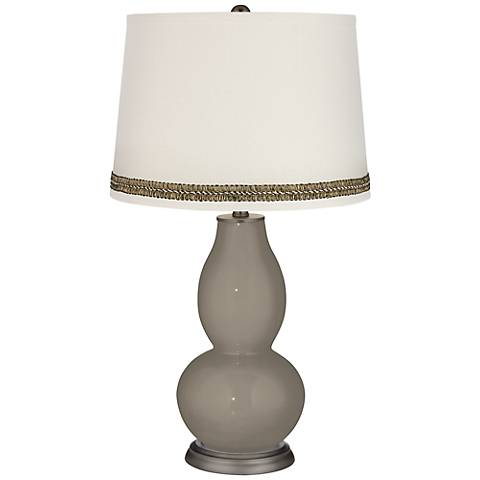 Backdrop Double Gourd Table Lamp with Wave Braid Trim