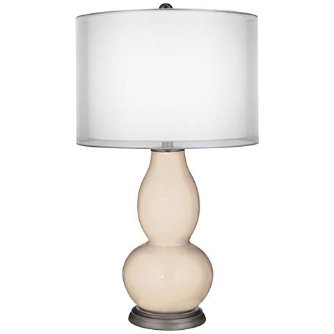 Steamed Milk Sheer Double Shade Double Gourd Table Lamp