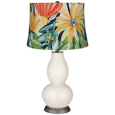West Highland White Daisies Double Gourd Table Lamp