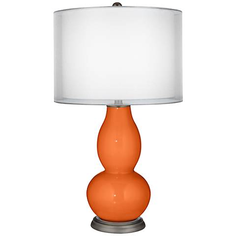 Invigorate Sheer Double Shade Double Gourd Table Lamp
