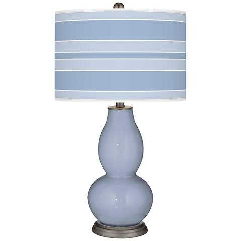 Blue Sky Bold Stripe Double Gourd Table Lamp