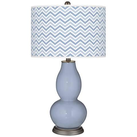 Blue Sky Narrow Zig Zag Double Gourd Table Lamp