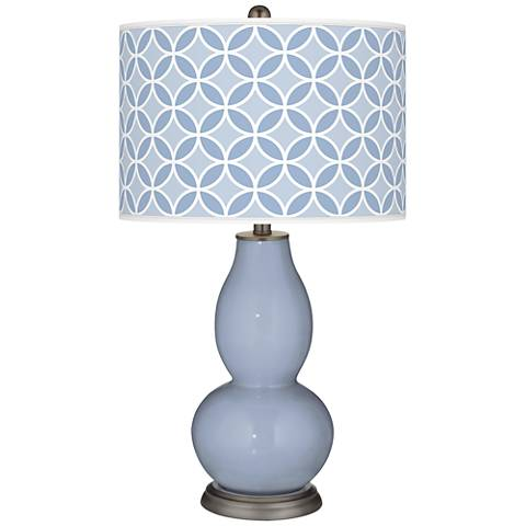 Blue Sky Circle Rings Double Gourd Table Lamp