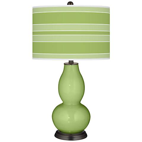 Lime Rickey Bold Stripe Double Gourd Table Lamp