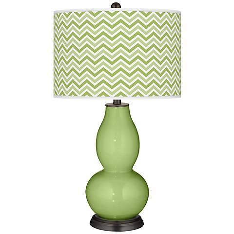 Lime Rickey Narrow Zig Zag Double Gourd Table Lamp