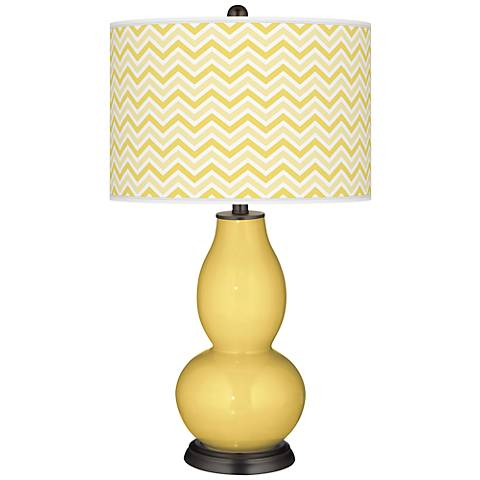 Daffodil Narrow Zig Zag Double Gourd Table Lamp