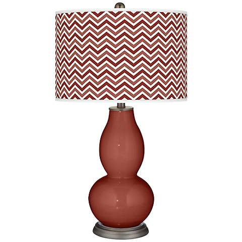 Madeira Narrow Zig Zag Double Gourd Table Lamp