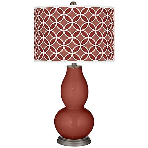 Madeira Circle Rings Double Gourd Table Lamp