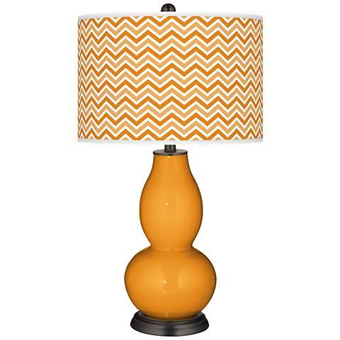 Carnival Narrow Zig Zag Double Gourd Table Lamp