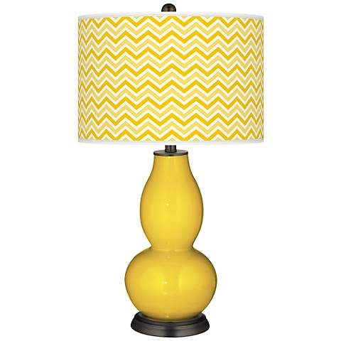 Citrus Narrow Zig Zag Double Gourd Table Lamp