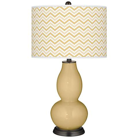 Humble Gold Narrow Zig Zag Double Gourd Table Lamp
