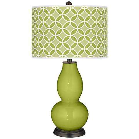Parakeet Circle Rings Double Gourd Table Lamp