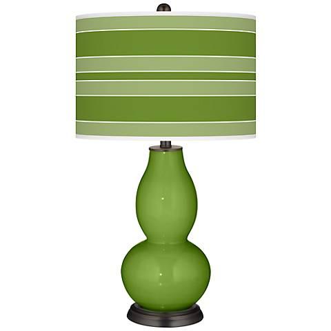 Gecko Bold Stripe Double Gourd Table Lamp