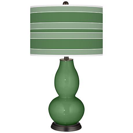 Garden Grove Bold Stripe Double Gourd Table Lamp