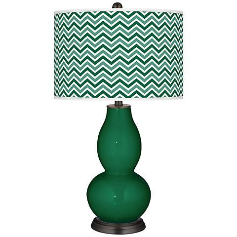 Greens Narrow Zig Zag Double Gourd Table Lamp