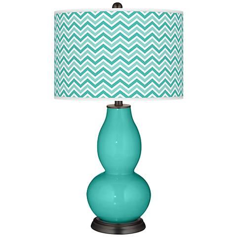Synergy Narrow Zig Zag Double Gourd Table Lamp