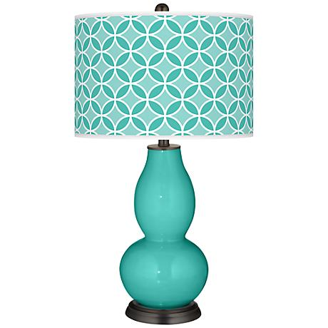 Synergy Circle Rings Double Gourd Table Lamp
