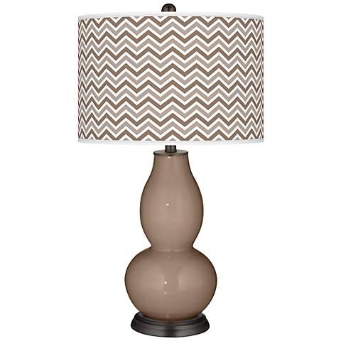 Mocha Narrow Zig Zag Double Gourd Table Lamp