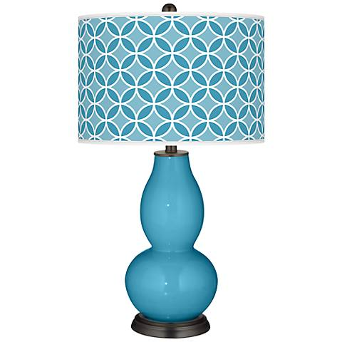 Jamaica Bay Circle Rings Double Gourd Table Lamp
