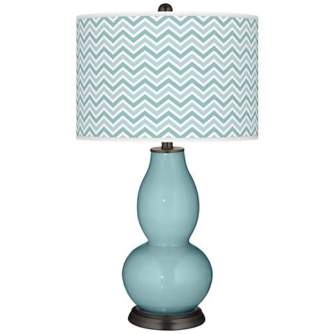 Raindrop Narrow Zig Zag Double Gourd Table Lamp