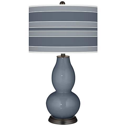 Granite Peak Bold Stripe Double Gourd Table Lamp