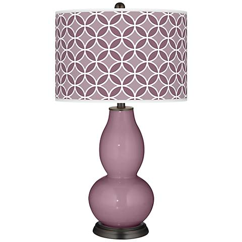 Plum Dandy Circle Rings Double Gourd Table Lamp