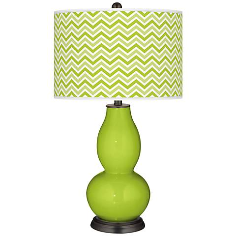 Tender Shoots Narrow Zig Zag Double Gourd Table Lamp