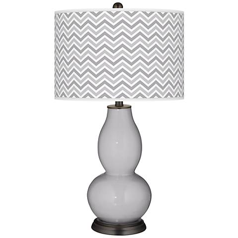 Swanky Gray Narrow Zig Zag Double Gourd Table Lamp