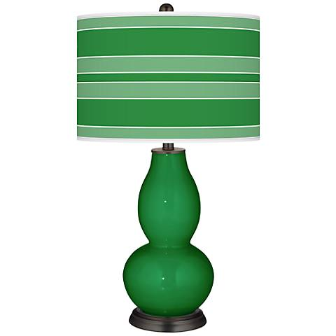 Envy Bold Stripe Double Gourd Table Lamp