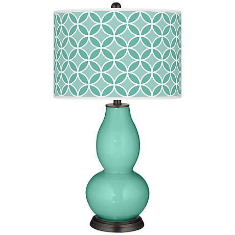 Larchmere Circle Rings Double Gourd Table Lamp