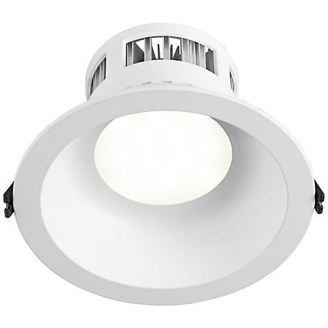 "6"" Recessed 12 Watt 3000K LED Retrofit Trim in White"