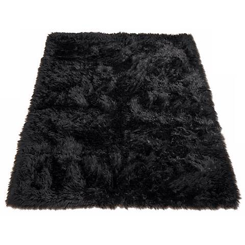 Black Bear 012 Faux Fur Area Rug