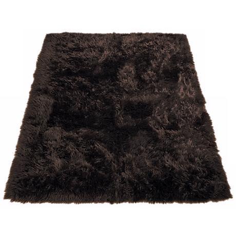 Brown Bear 022 Faux Fur Area Rug
