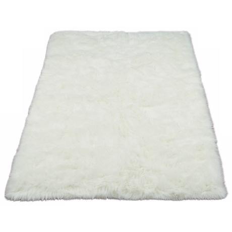 White Polar Bear 032 Faux Fur Area Rug
